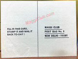 Maggi Club Membership Card Postal Card